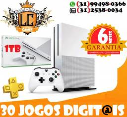 Xbox One S 1TB/500GB - 30 JOGOs - 06 Meses Garantia