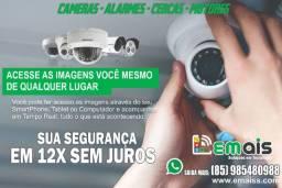 Câmera de segurança sistema completo em 12x R$ 115,00