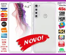 "Motorola One Fusion+ 128GB Octacore, 6GB Ram, Tela 6.5"", 4Cam 64MP, Novo, Cx, NF, Gar, Trc"