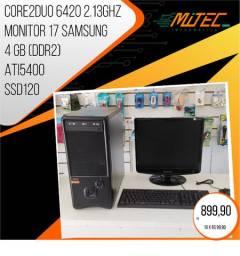 Core 2duo / 4gb / ssd 120 / monitor 17