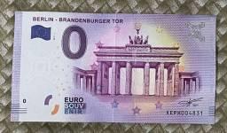 0 Euro - Souvenir de Berlim, Alemanha