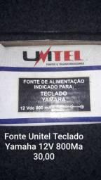 Fonte Unitel Teclado Yamaha 12V 800ma