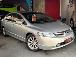 Título do anúncio: Honda New Civic Lxs 1.8 16v Flex Manual Prata Completo