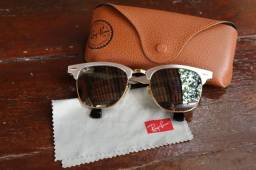 Óculos Ray-Ban Clubmaster Espelhado Prateado