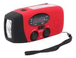 Rádio Solar Do Acampamento Do Am Fm Da Manivela Da Emergência