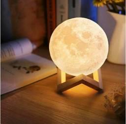 Luminária Luxo 3d Lua cheia