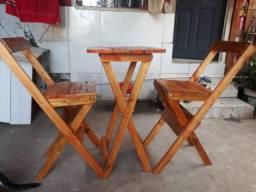 Jogo de mesa bistrô rustica