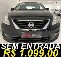 Título do anúncio: Nissan Versa 1.6 Sl Único dono 2013 Preta