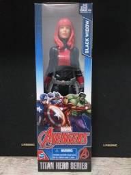 Boneco Viúva Negra Vingadores Marvel Titan Hero Serie