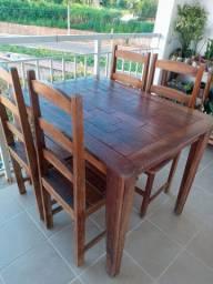 Jogo de mesa rustica