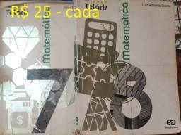 Teláris - Matemática 7 , 8 - R$ 25 cada