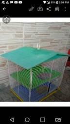 Viveiro grande papagaio e casinha para hamster