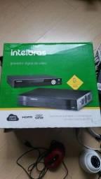 Kit intelbras com dvr 4 cameras, fonte, HD de 1gb + monitor samsung