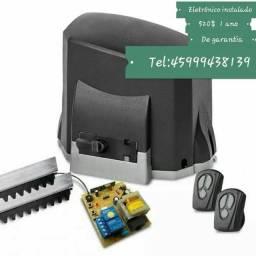 Eletrônico para portões 520$ instalado com 1 ano de garantia !