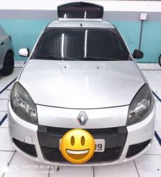 Renault Sandero Expression 1.0 2014 Prata - Completo