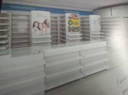 Gôndola para supermercados e drogarias