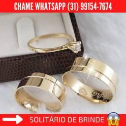 Alianças de Moeda+3 Brindes Whatsapp Abaixo