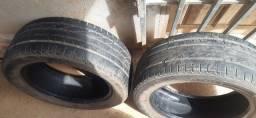 2 pneus 205 /55 aro 16 meia vida