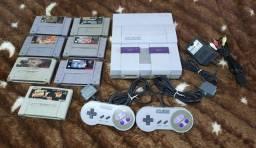 Título do anúncio: Super Nintendo c/ 7 Jogos