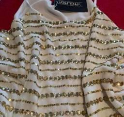Blusa de alcinha crepe