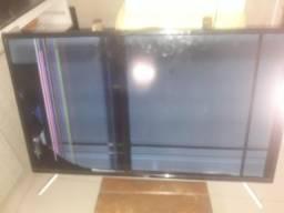 tv tcl smart led l39s4900 com tela quebrada
