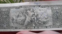 Nota antiga autografada