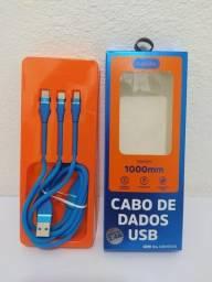 Cabo 3 em 1 Micro USB , Lite e Tipo - C