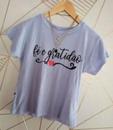 T-shirt canelado