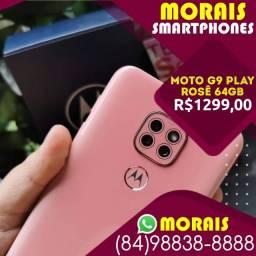 (Oferta Exclusiva) Motorola G9 Play 64Gb Rosa Quartzo (Bateria 5.000 Mil Amperes)