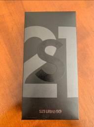 S21 Ultra 256GB, preto, NF e caixa lacrada