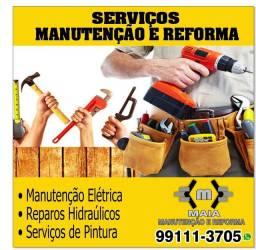 Pintor, eletricista, encanador, pedreiro, instalação de tv, gesseiro e marceneiro