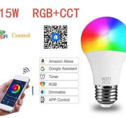 Lâmpada Smart Wifi 15w Rgb + Cct Smart De Trabalho Com Alexa Google Home [Lâmpada]