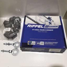 Título do anúncio: Kit Relação Transmissão Cg 150 Titan Fan 150 Original Riffel Titanium Aço 1045