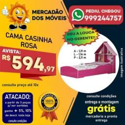Cama Casinha Rosa