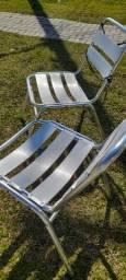 Cadeira em alumínio