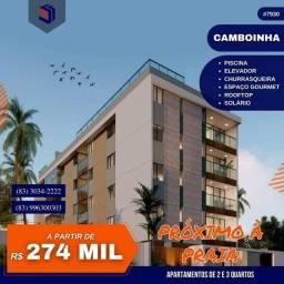 Título do anúncio: Apartamento para Venda em Cabedelo, Camboinha, 2 dormitórios, 1 suíte, 2 banheiros, 2 vaga