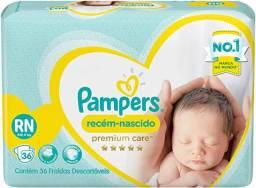 Fraldas Pampers Premium Care RN com 36 unidades