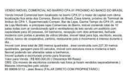 Imovel Residencial ou Comercial no CPA 1