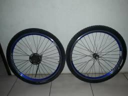 Par de Rodagem Completa Para Bike Aro 26