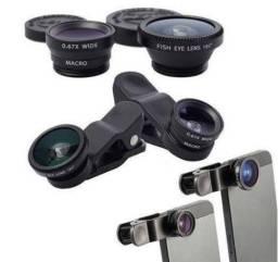 Lente Olho de Peixe Universal - Smartphone, Iphone, Tablet, Ipod