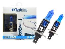 Lâmpada H1 e H3 TechOne Super Branca 8500k