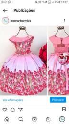 Vestido lindo florido
