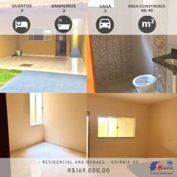 Casa 2 quartos sendo 1 suíte, R$169.000,00 Residencial Ana Moraes, Goiânia - GO