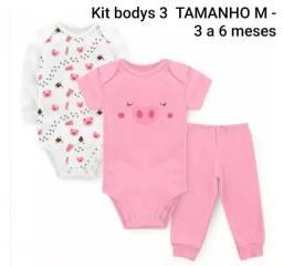 Kits bodys menina tamanho M