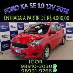 Aproveite! Ford Ka SE 1.0 12V FLEX 2018, falar com Igor - 2018