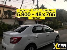 Logan 1.0 - 2015 _ Único Dono _ Completo