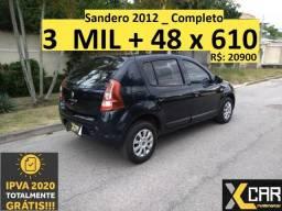 Sandero 2012 _ 2020 Ok _ Compelto _ 3 MIL de entrada - 2012