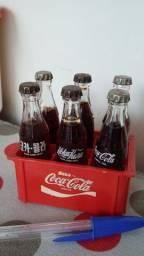 Mini engradado coca cola anos 80
