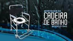 A cadeira de rodas higiênica para banho D40 Dellamed
