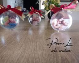 Bola natalina com foto